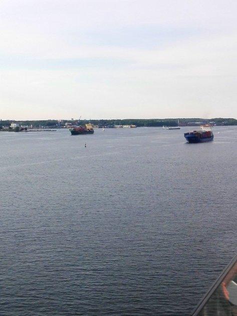 Schiffsbewegungen vorm Nord - Ostsee - Kanal