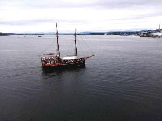Segelschiff im Oslofjord
