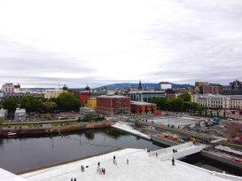 Oslo vom Dach des Opernhauseses