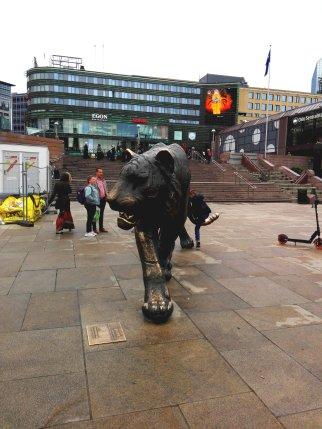 Tiger Statue am Hauptbahnhof