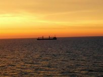 Frachter auf der Ostsee