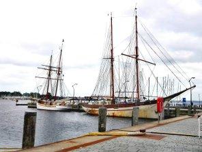 Segelschiffe im Hafen von Eckernförde
